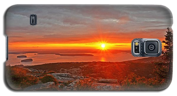 The Sunrise From Cadillac Mountain In Acadia National Park Galaxy S5 Case