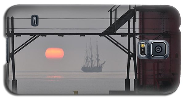 The Sunrises On A Tall Ship In Door County Galaxy S5 Case