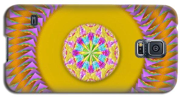 Galaxy S5 Case featuring the digital art The Sunshine Mandala by Mario Carini