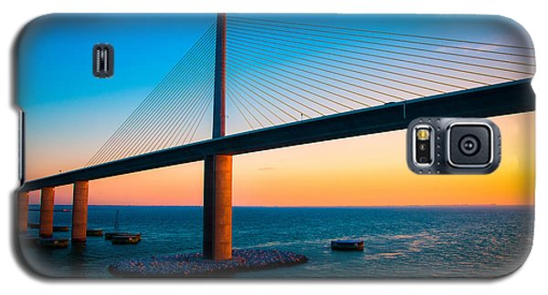 The Sunshine Under The Sunshine Skyway Bridge Galaxy S5 Case