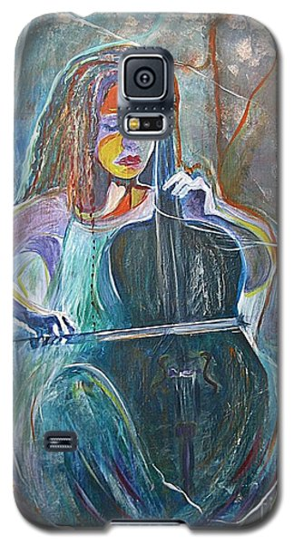 Galaxy S5 Case featuring the painting The Swan Of Saint-sanz by Diana Bursztein