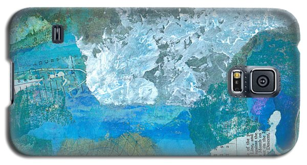 Galaxy S5 Case featuring the mixed media The Swimmer by Catherine Redmayne