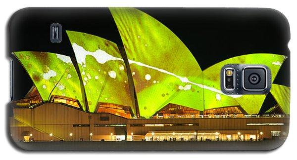 The Sydney Opera House In Vivid Green Galaxy S5 Case
