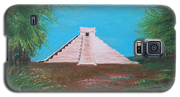 Galaxy S5 Case featuring the painting The Temple Of Kukulcan by Alys Caviness-Gober
