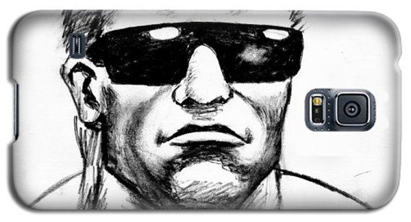Galaxy S5 Case featuring the painting Arnold Schwarzenegger by Salman Ravish