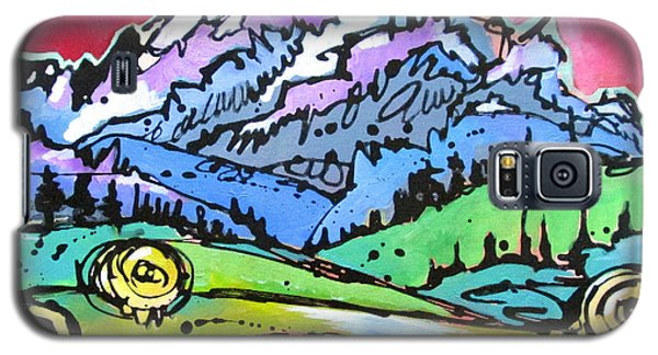 Galaxy S5 Case featuring the painting The Tetons From Walton Ranch by Nicole Gaitan