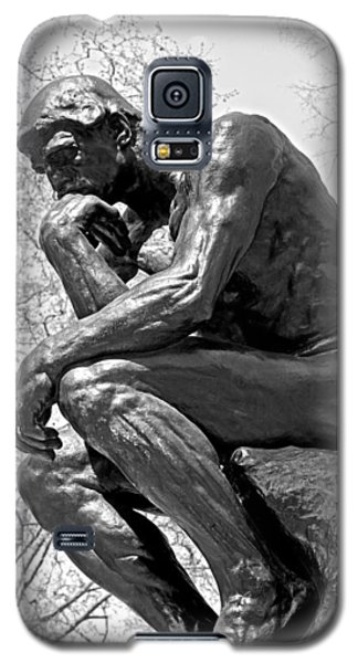 The Thinker In Black And White Galaxy S5 Case by Lisa Phillips