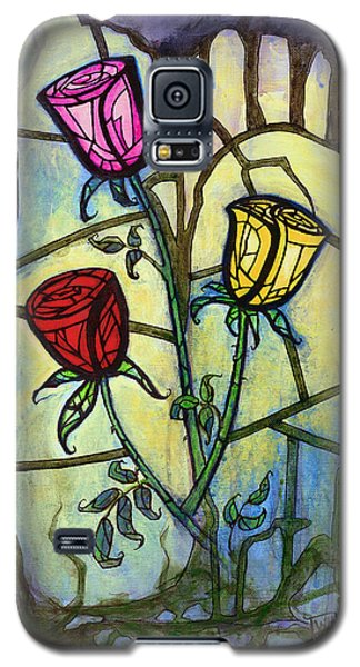 Galaxy S5 Case featuring the painting The Three Roses by Terry Webb Harshman