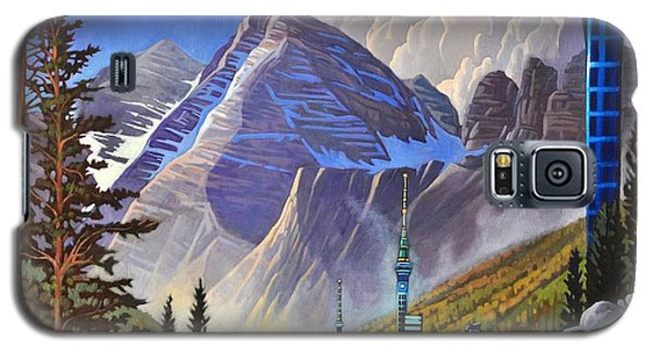 Galaxy S5 Case featuring the painting The Three Towers by Art James West