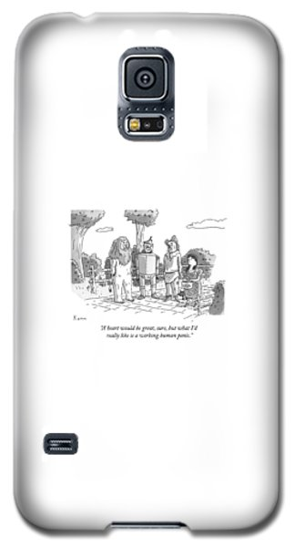 Wizard Galaxy S5 Case - The Tin Man Of The Wizard Of Oz Speaks by Zachary Kanin