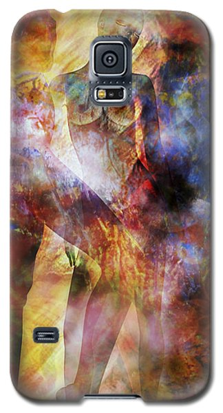 Galaxy S5 Case featuring the mixed media The Touch by Ally  White
