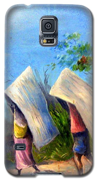 Galaxy S5 Case featuring the painting The Traditional Umbrella  by Jason Sentuf