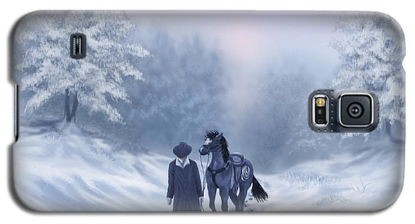 Galaxy S5 Case featuring the painting The Trail Home by Sena Wilson