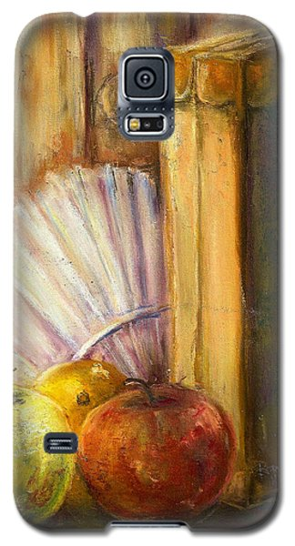 Galaxy S5 Case featuring the pastel The Traveler by Bernadette Krupa