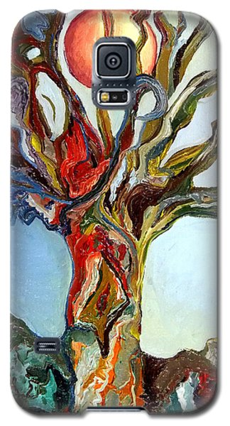 Galaxy S5 Case featuring the painting The Tree by Daniel Janda
