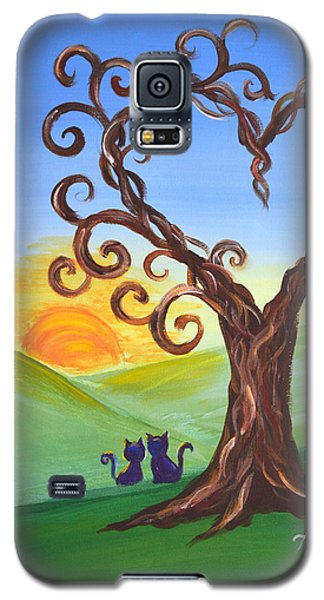 Galaxy S5 Case featuring the painting The Tree Of Love by Agata Lindquist