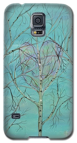 Galaxy S5 Case featuring the painting The Trees Speak To Me In Whispers by Deborha Kerr