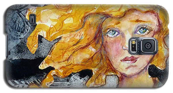 Galaxy S5 Case featuring the mixed media The True Believer by P Maure Bausch