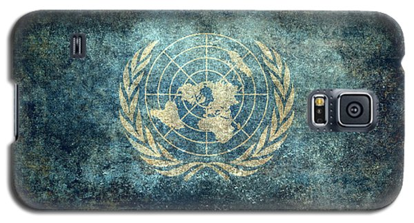 The United Nations Flag  Vintage Version Galaxy S5 Case by Bruce Stanfield