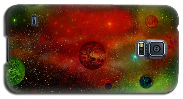 Galaxy S5 Case featuring the painting The Universe by Michael Rucker