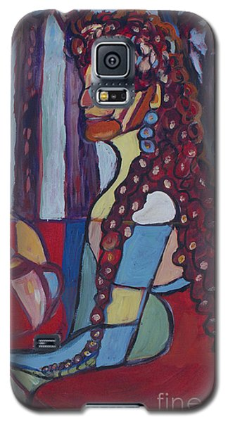 Galaxy S5 Case featuring the painting The Unknown Story by Avonelle Kelsey