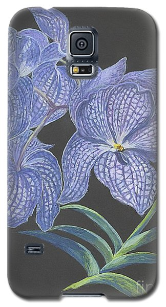 Galaxy S5 Case featuring the painting The Vanda Orchid by Carol Wisniewski
