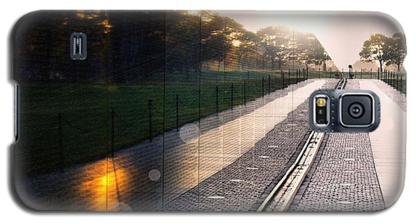 Galaxy S5 Case featuring the photograph The Vietnam Wall Memorial  by John S