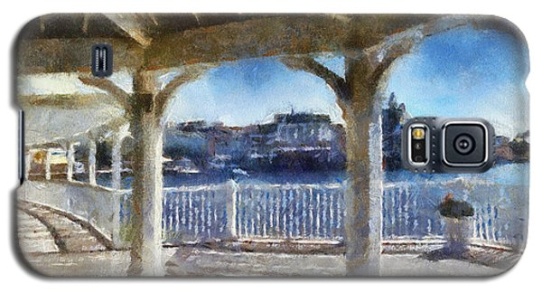 The View From The Boardwalk Gazebo Wdw 02 Photo Art Galaxy S5 Case by Thomas Woolworth