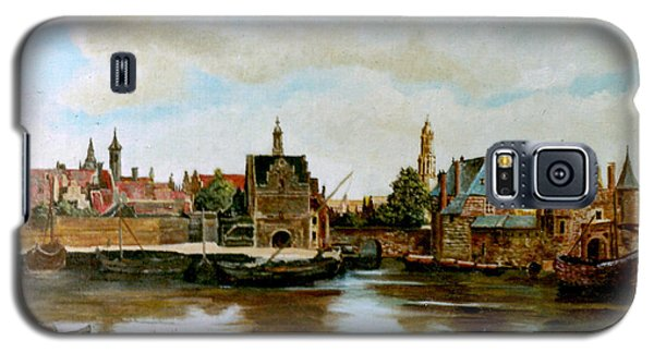 Galaxy S5 Case featuring the painting The View Of Delft by Henryk Gorecki