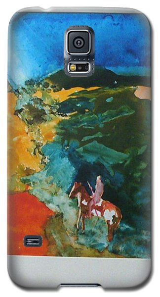 Galaxy S5 Case featuring the painting The Village Is Near by Keith Thue