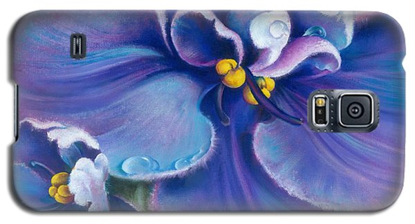 Galaxy S5 Case featuring the painting The Violet by Anna Ewa Miarczynska