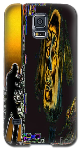 Galaxy S5 Case featuring the digital art The Violin Inside by Mojo Mendiola