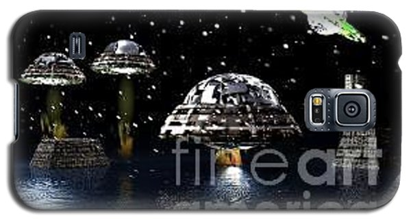 Galaxy S5 Case featuring the digital art The Visit by Jacqueline Lloyd