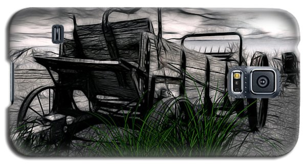 Galaxy S5 Case featuring the mixed media The Wagon by Tyler Robbins