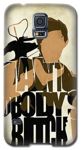 The Walking Dead Inspired Daryl Dixon Typographic Artwork Galaxy S5 Case by Ayse Deniz