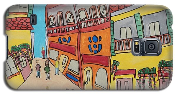 Galaxy S5 Case featuring the painting The Walled City by Artists With Autism Inc