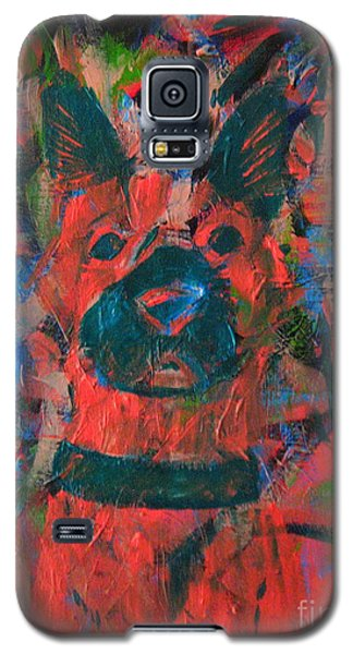 Galaxy S5 Case featuring the painting The Watcher by Wendy Coulson