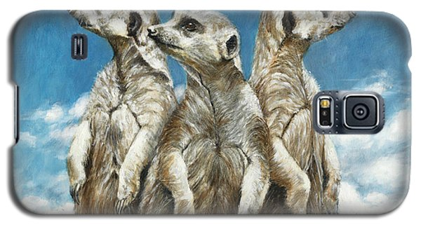 Meerkat Galaxy S5 Case - The Watchers by Dreyer Wildlife Print Collections