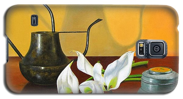 Galaxy S5 Case featuring the painting The Watering Can by Glenn Beasley