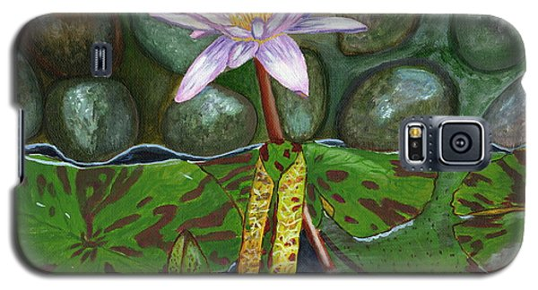 Galaxy S5 Case featuring the painting The Waterlily by Laura Forde