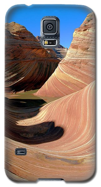 Galaxy S5 Case featuring the photograph 'the Wave' North Coyote Buttes 19 by Jeff Brunton