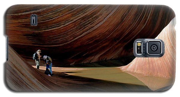 Galaxy S5 Case featuring the photograph 'the Wave' North Coyote Buttes 44 by Jeff Brunton