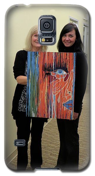 Galaxy S5 Case featuring the painting The Way Eye See It by Kathleen Sartoris