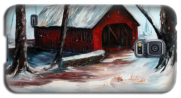 Galaxy S5 Case featuring the painting The Way Home by Meaghan Troup