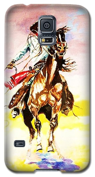 Galaxy S5 Case featuring the painting The Way Of The Vaquero by Al Brown