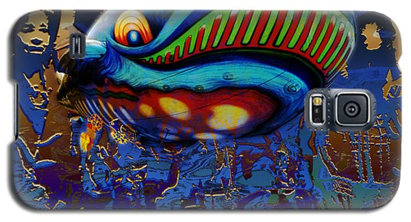 Galaxy S5 Case featuring the digital art The Whale Flight by Rosa Cobos