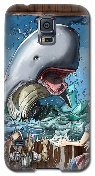 Galaxy S5 Case featuring the painting The Whale by Reynold Jay