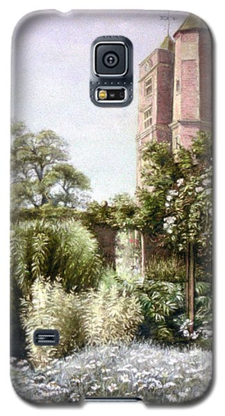 Galaxy S5 Case featuring the painting The White Garden by Rosemary Colyer