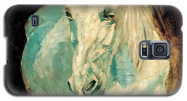 Galaxy S5 Case featuring the painting The White Gazelle by Allen Beilschmidt
