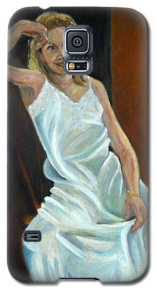 The White Slip Galaxy S5 Case by Sally Simon